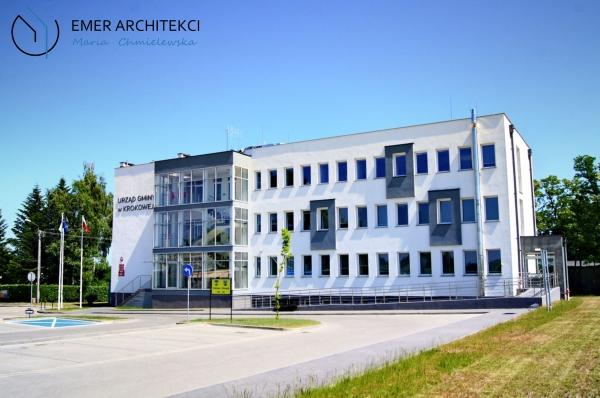 przebudowa i nadbudowa budynku urzędu