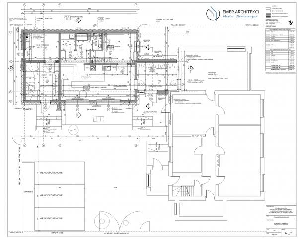 układ funkcjonalny budynku mieszkalnego